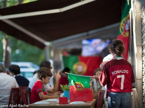EM Portugal vs. Frankrig – Set fra en restaurant i Portugal